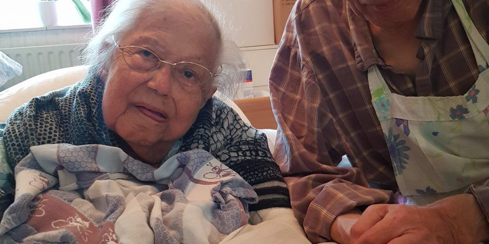 Vrouw van 95 jaar oud doorbreekt stilte.