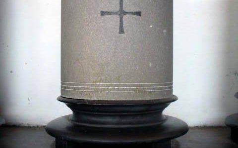 Urn Frits Hertel bijgezet Ereveld Menteng Pulo te Jakarta, in het Columbarium (Col. F 5)