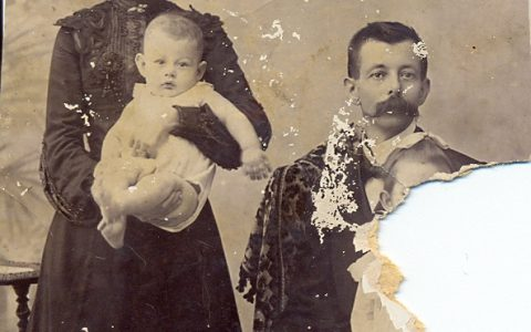 Sophie en Anton samen met Georgina en baby Louis