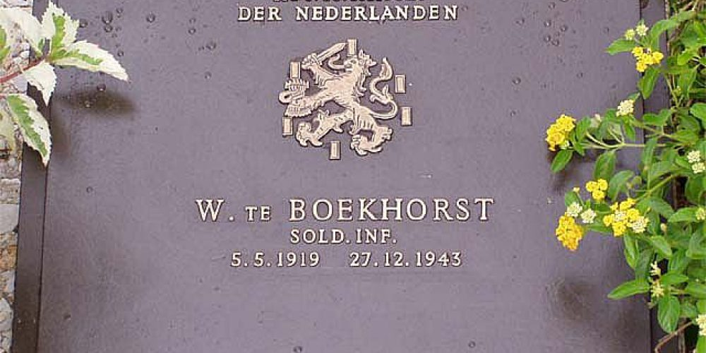 Oom Willy te Boekhorst, overleden op 27 december 1943 te Birma.