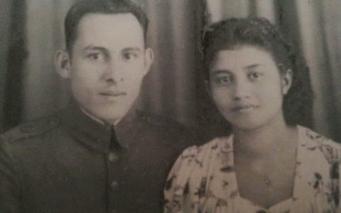 Verlovingsfoto van papa en mama