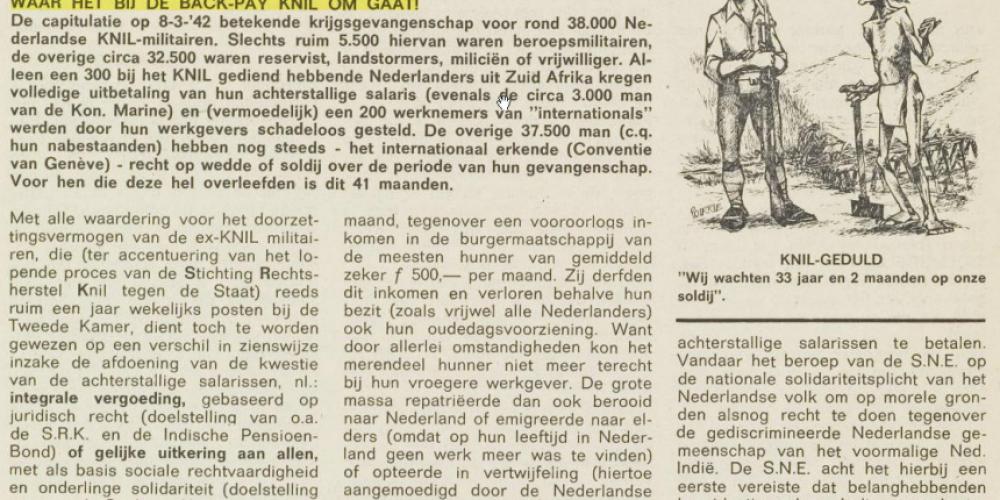 Backpay in de Moesson sinds 1956: een overzicht