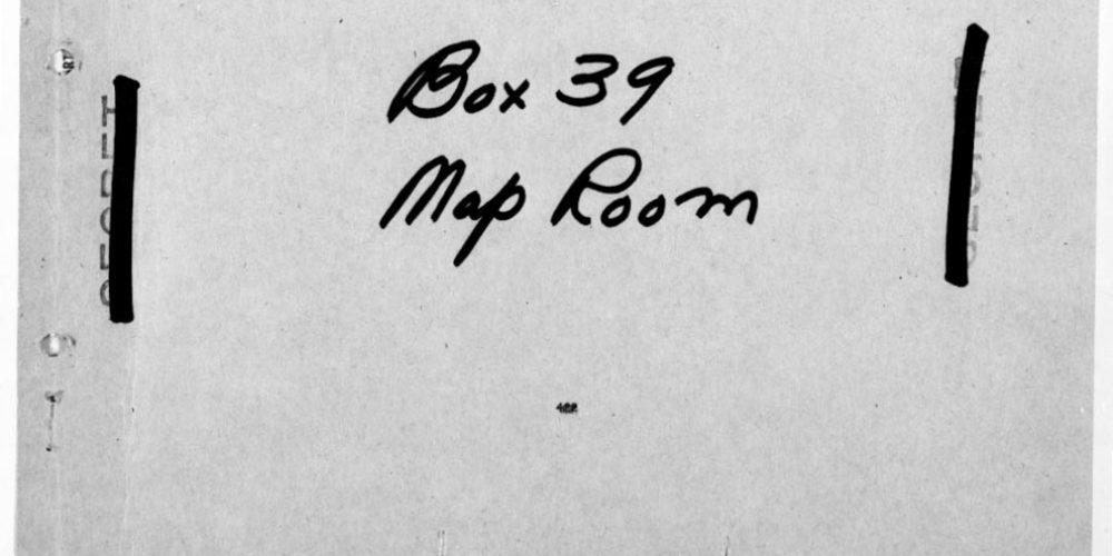 BOX 39, Van Mook. US Secret, Britisch Most Secret. Netherlands Forces (London) April 9th, 1942.