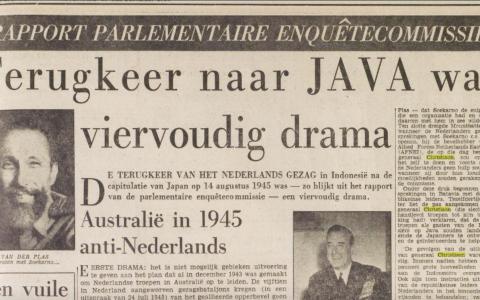 Het Vrije Volk (15-9-1956): Terugkeer naar JAVA was viervoudig drama
